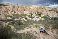 Cyclist Tobias Woggon in Cappadocia