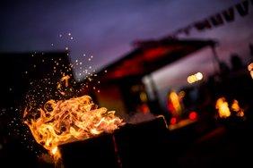 Rosegarden on fire Night beim Bikefestival in den Dolomiten